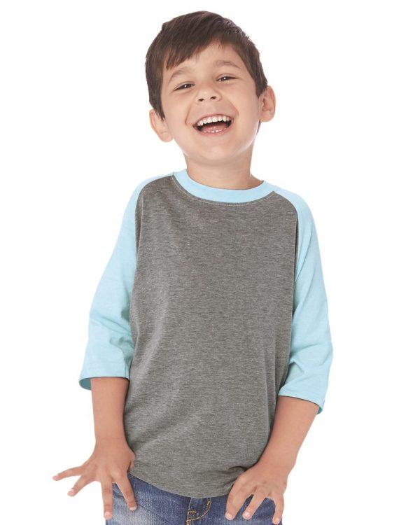 Method Screen Printed Next Level Youth Raglan Shirt