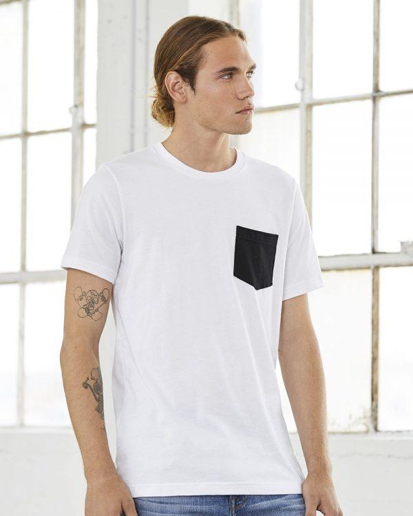 Custom Screen Printed Bella + Canvas Pocket Shirt