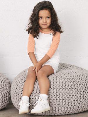 Custom Screen Printed Bella + Canvas Toddler Raglan Shirts