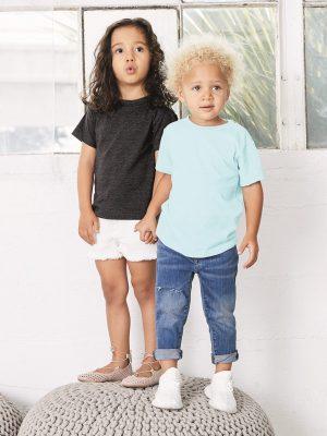 Custom Screen Printed Bella + Canvas Triblend Toddler Shirt