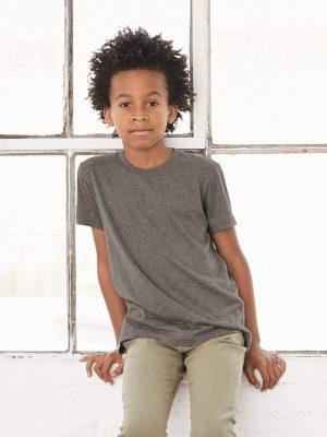 Custom Screen Printed Bella + Canvas Triblend Youth Shirts