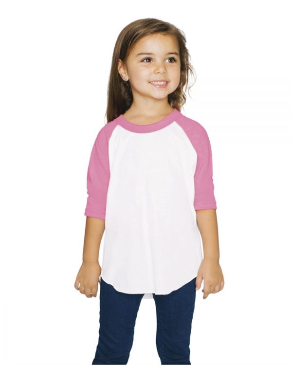 Method Chicago Custom Screen Printed American Apparel Youth Raglan Shirt