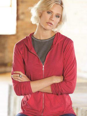 Method Chicago Screen Printing - Anvil Ladies Fit Hooded Shirt