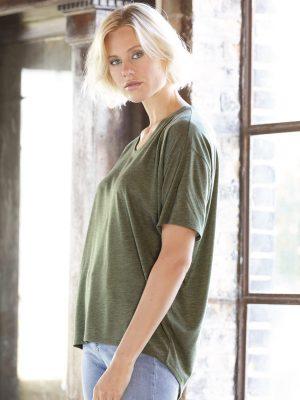 Method Chicago Screen Printing - Anvil Ladies Fit Drop Shoulder Shirt