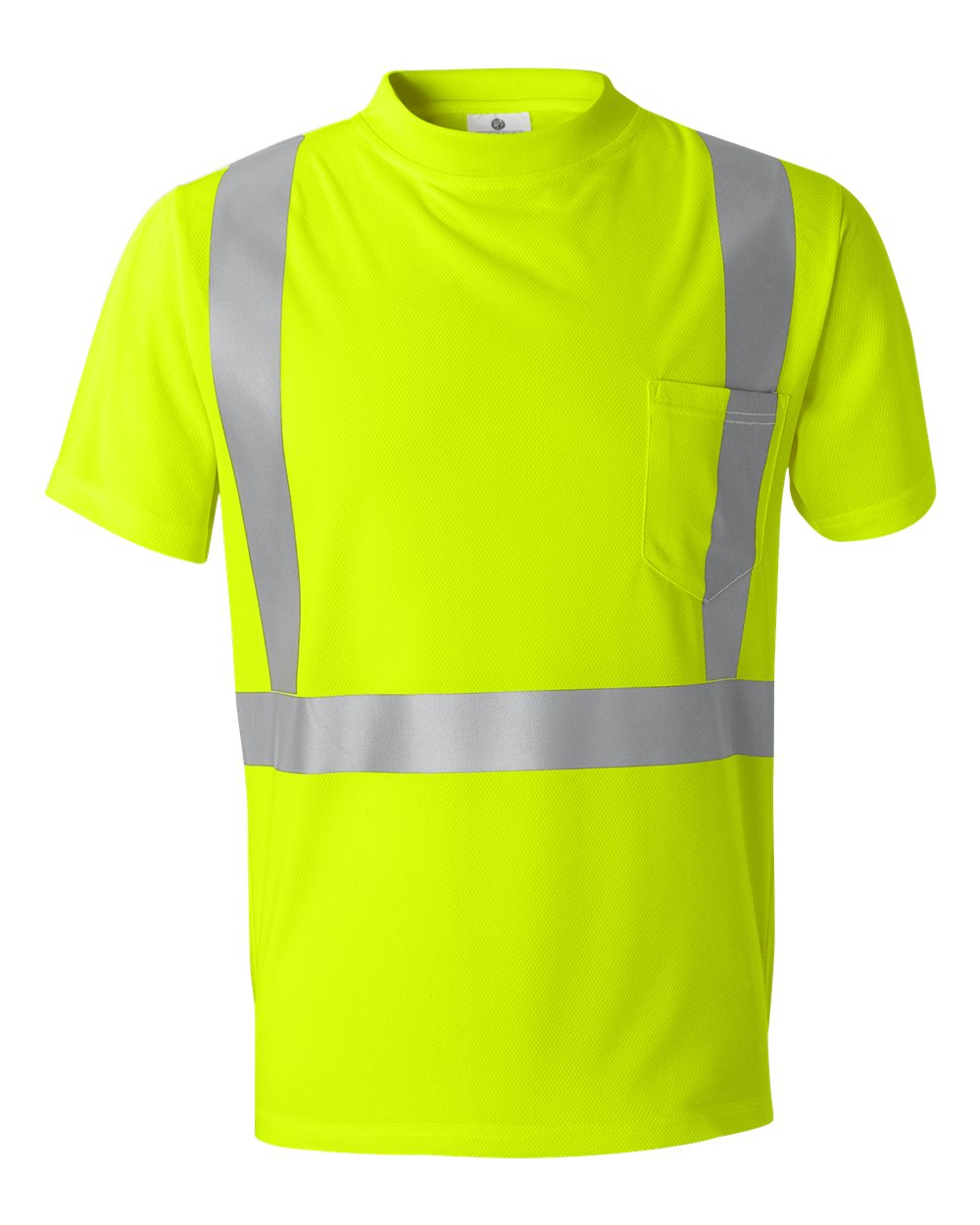 METHOD CHICAGO SCREEN PRINTING AND EMBROIDERY - CUSTOM PRINTED HIGH VISIBILITY SHORT SLEEVE SHIRT